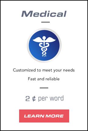 Medical Transcription Services Pricing